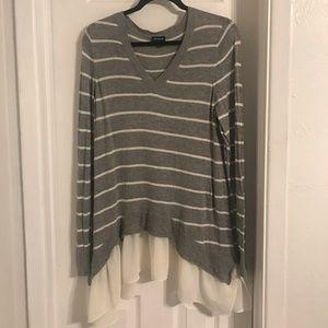 Torrid ruffle bottom knit sweater